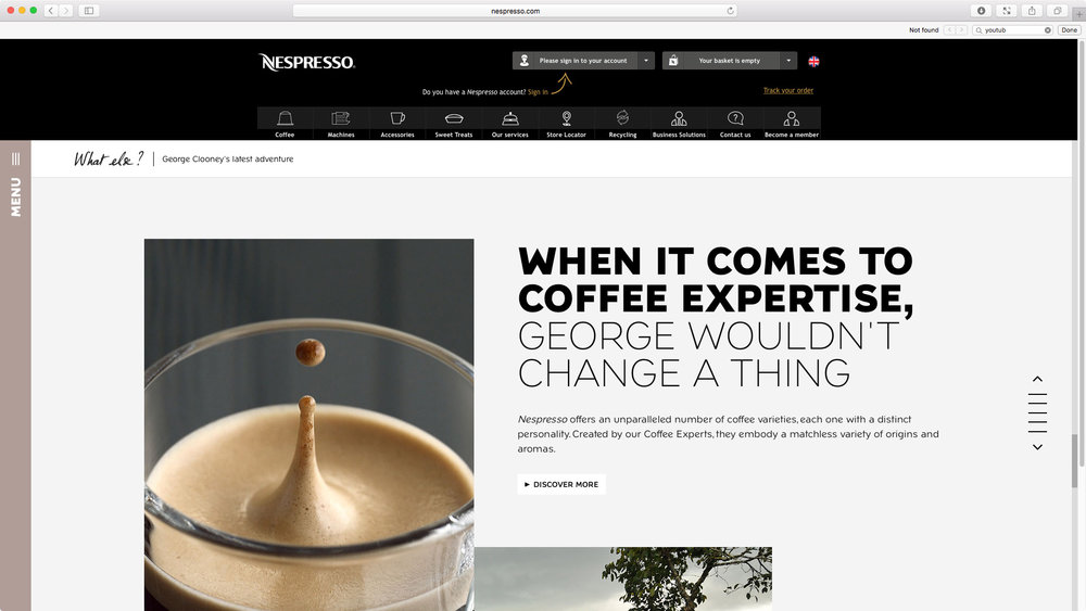 "Nespresso: ""Change Nothing"" featuring George Clooney - Global Campaign Website. When it comes to coffee expertise George wouldn't change a thing."
