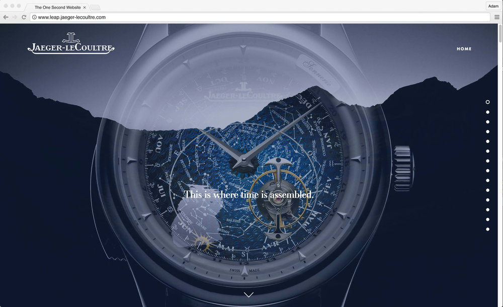 Jaeger-LeCoultre: 1 Second Website. This is where time is assembled.