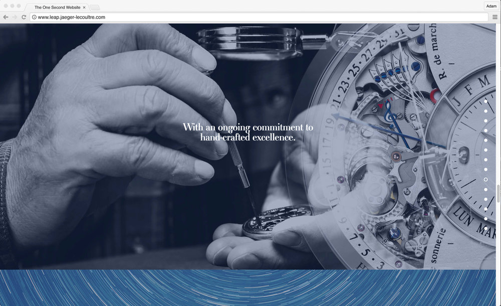Jaeger-LeCoultre: 1 Second Website. With an ongoing commitment to hand-crafted excellence.