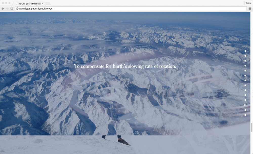 Jaeger-LeCoultre: 1 Second Website. To compensate for Earth's slowing rate of rotation.