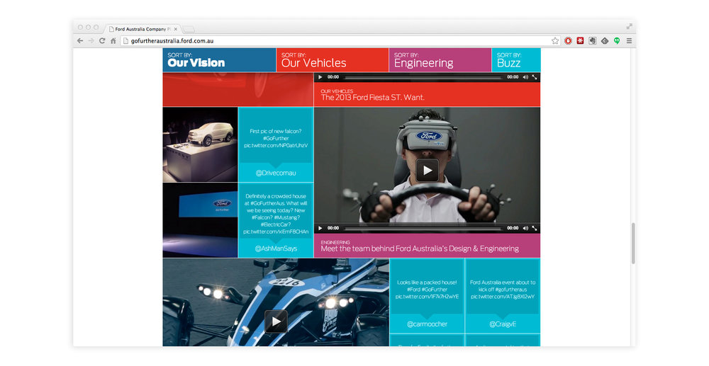 The Ford: Go Further event website - VR research and development