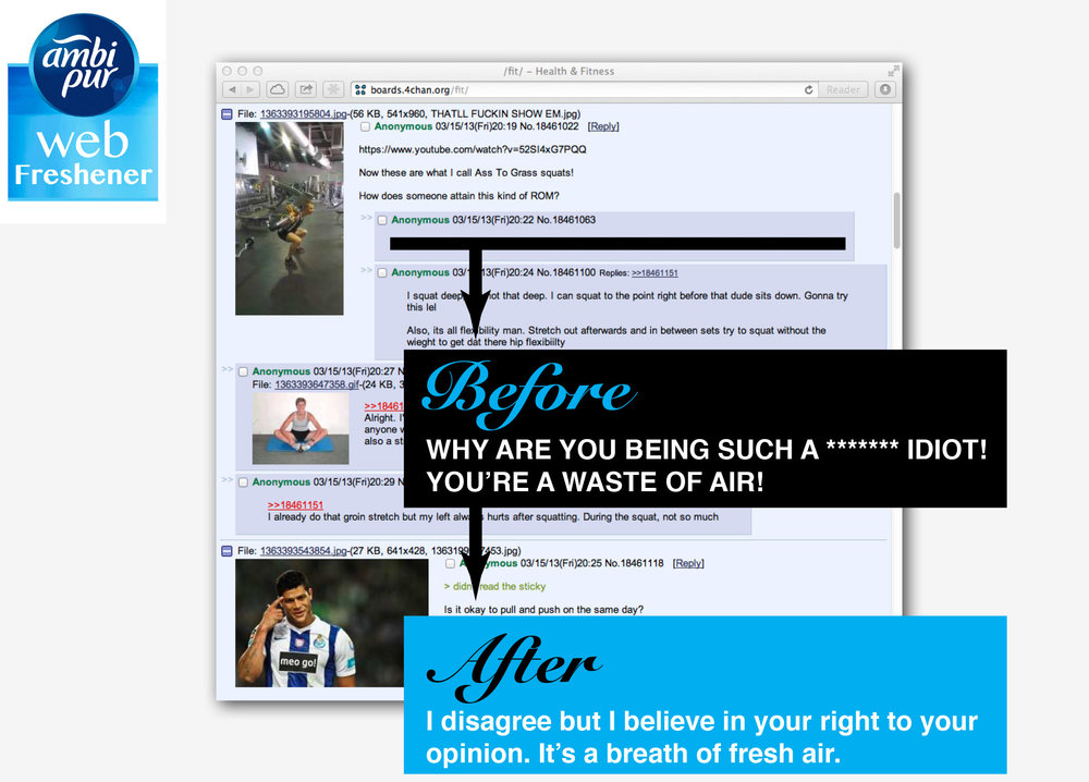 Procter & Gamble - AmbiPur: Web Freshener - Chrome Plugin. Before and After.