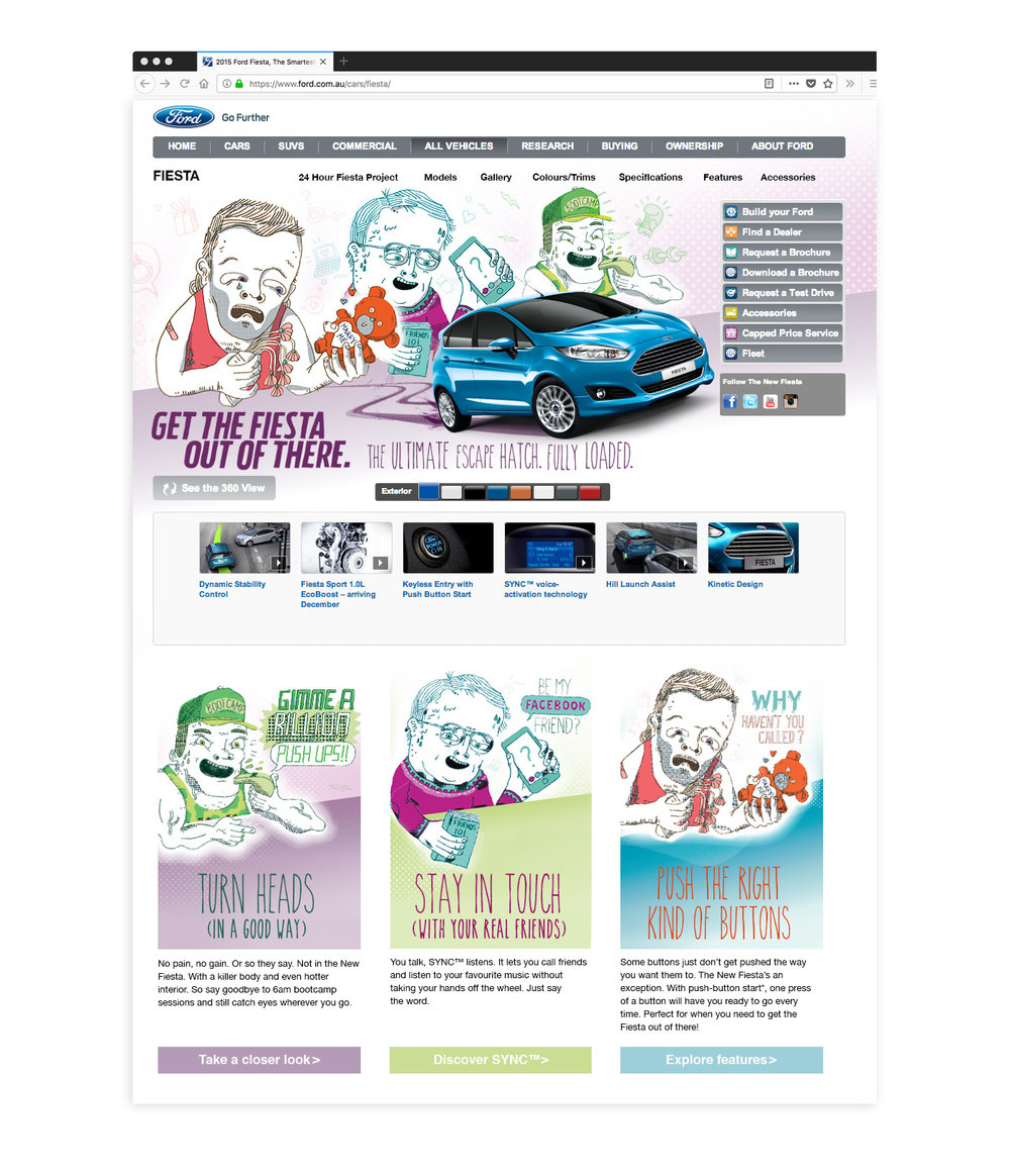 Ford: Get the Fiesta Out of There - Website