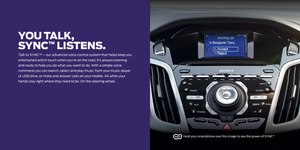 Ford: Augmented Reality Retention Book - You talk, Ford Sync listens.