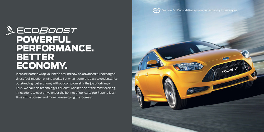 Ford: Augmented Reality Retention Book - EcoBoost. Powerful performance. Better Economy.
