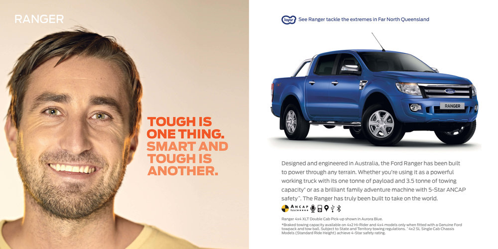 Ford: Augmented Reality Retention Book - Ford Ranger. Tough is one thing. Smart and touch is another.