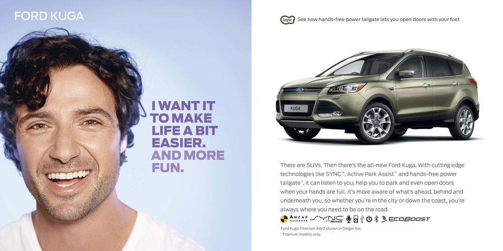 Ford: Augmented Reality Retention Book - Ford Kuga. I want it to make life easier. And more fun.