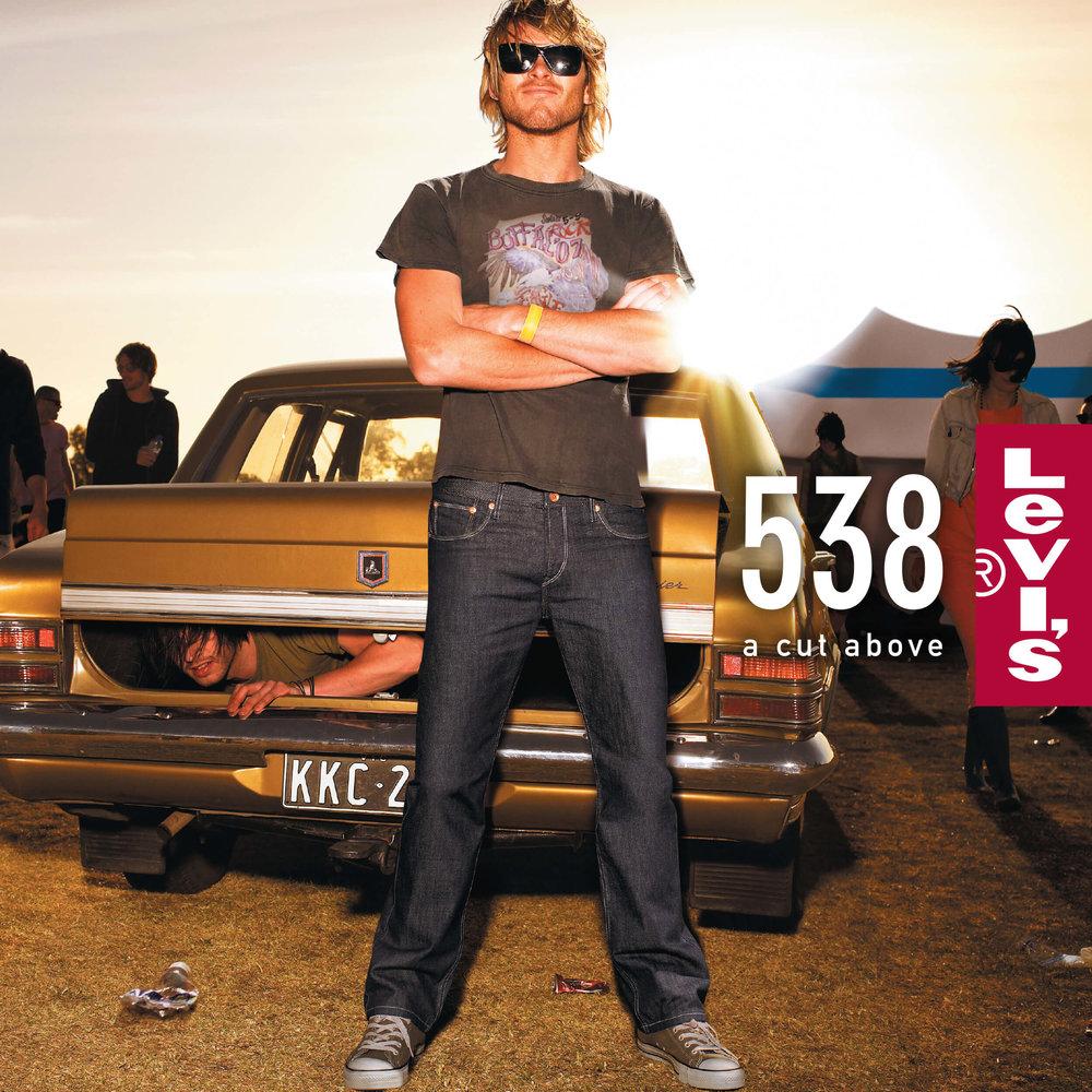 Levi's: A Cut Above - Men's 538 Jeans Point of Sale Ad