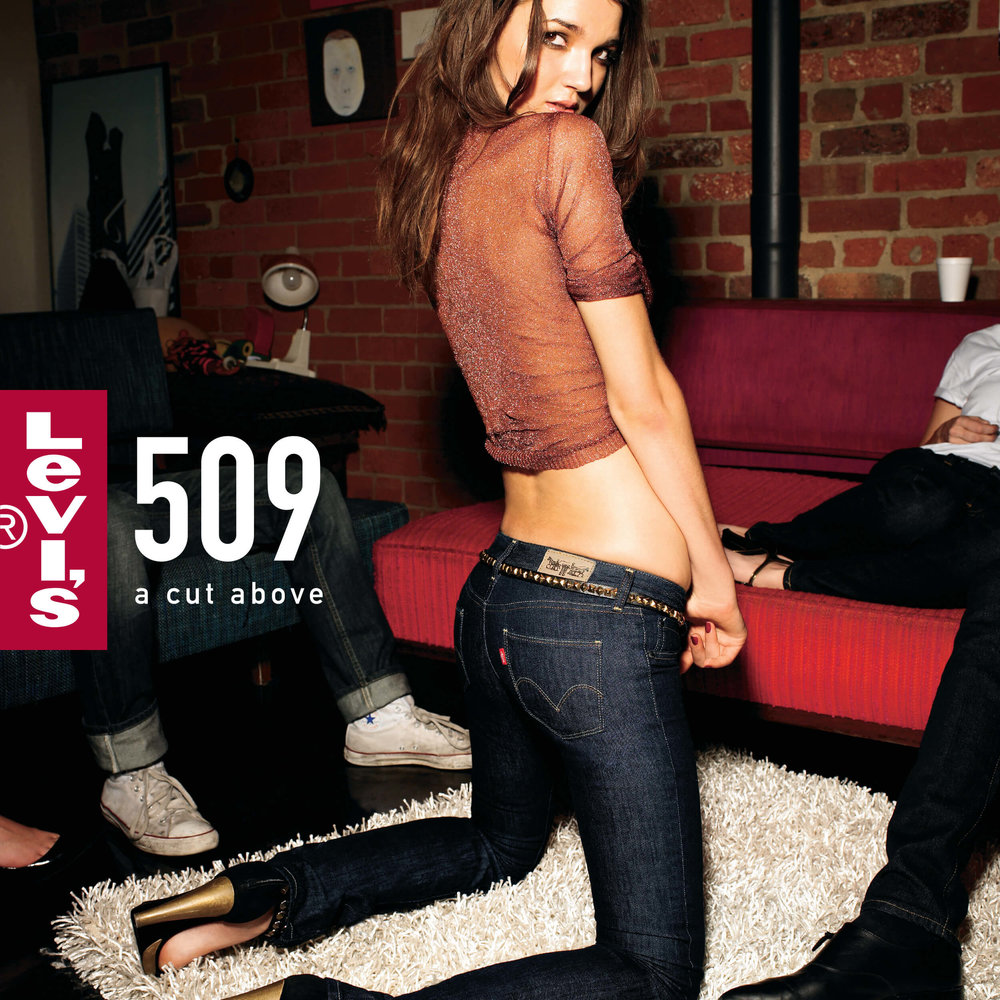 Levi's: A Cut Above - Women's 509 Jeans Point of Sale Ad