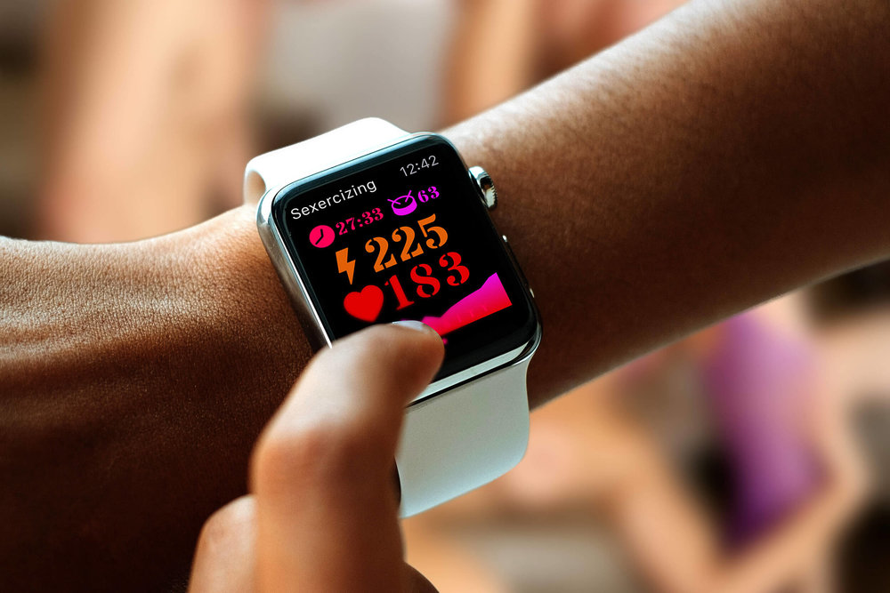 A photo showing the main activity screen of the Sexercize Apple Watch app.