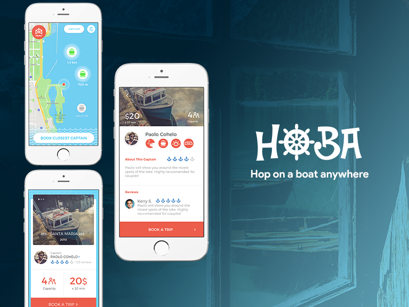 3000 Users in 30 Days - How we helped build, launch, & grow HOBA during this 4 month project, building the Uber for boating