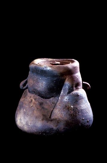 Elephant Foot Woodfired Covered Jar.jpg
