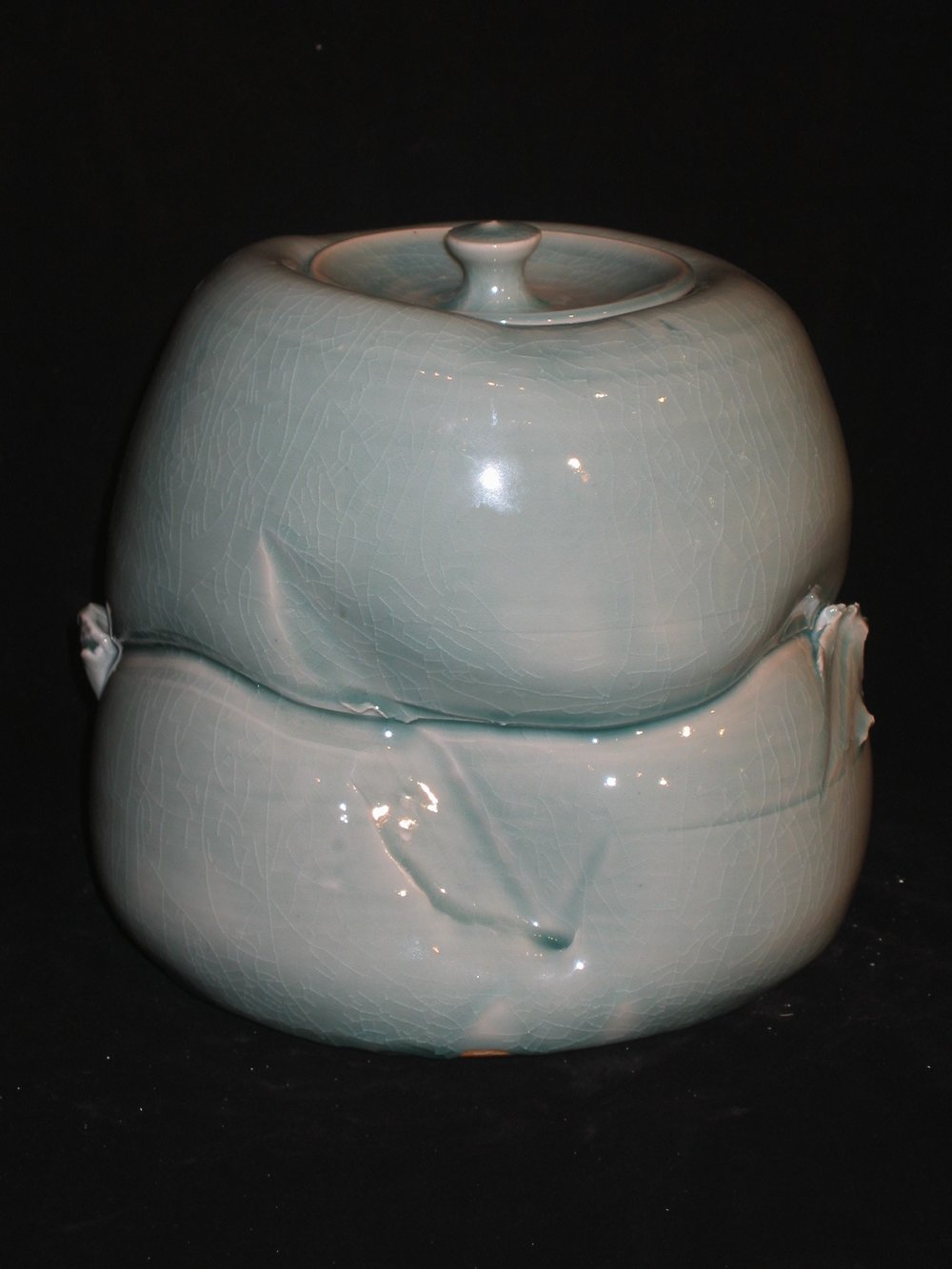 Porcelain Elephant Foot Covered Jar Form.jpg