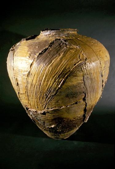 Large Woodfired Jar Form with Symbols - Yale University Gallery of Art