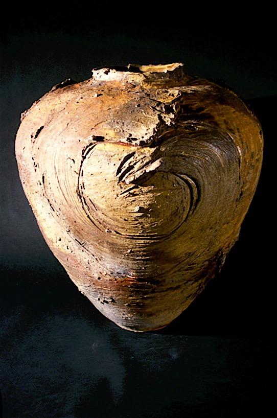 Large Woodfired Jar Form with Symbols - Yale
