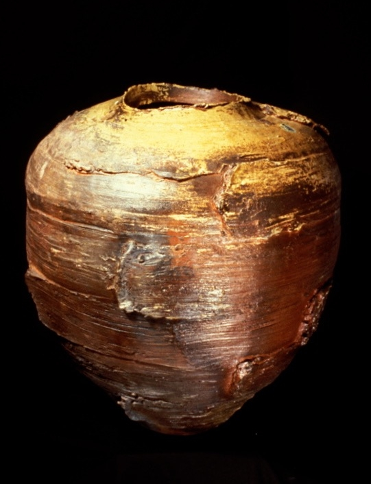 Large Woodfired Jar with added clay - Los Angeles Contemporary Museum of Art