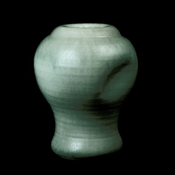 Soft Glazed Bone Form with Dent - Museum of Modern Art