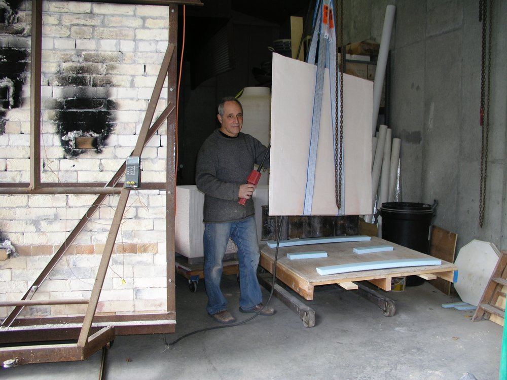 Loading tablet into kiln 2014.jpg