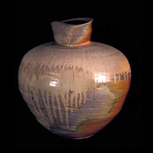 wood-fired porcelain jar form