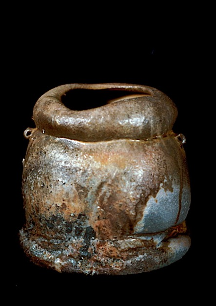 broad wood-fired vase form