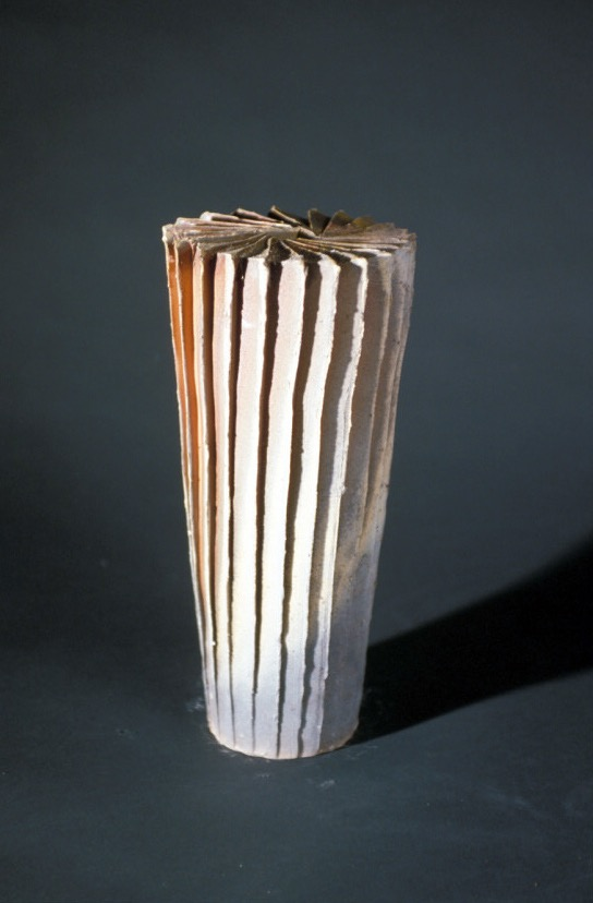 cut and faceted vase form