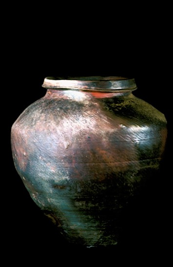 large wood-fired jar