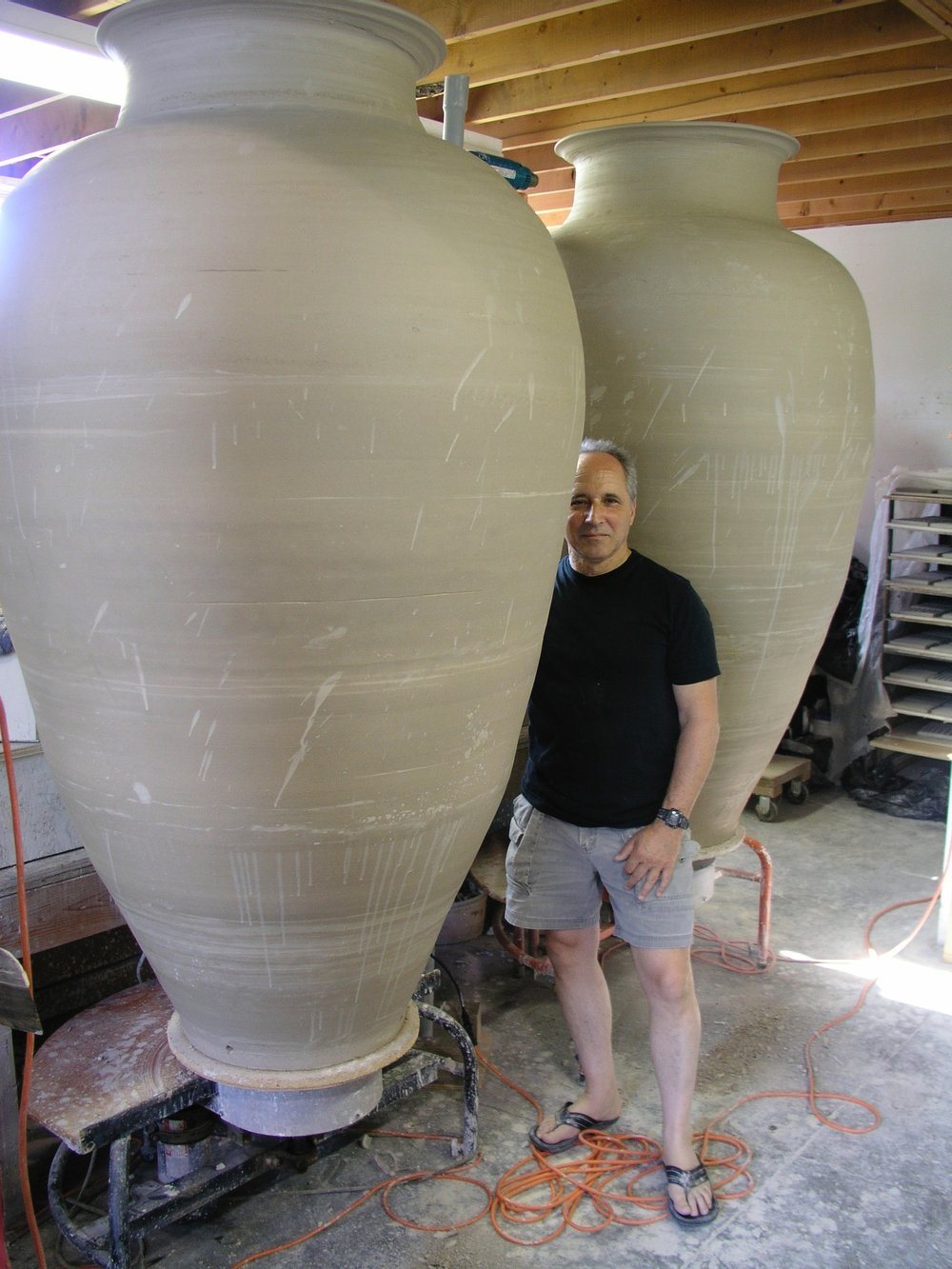 Colossal Jars in progress Ancram studio 2015.jpg