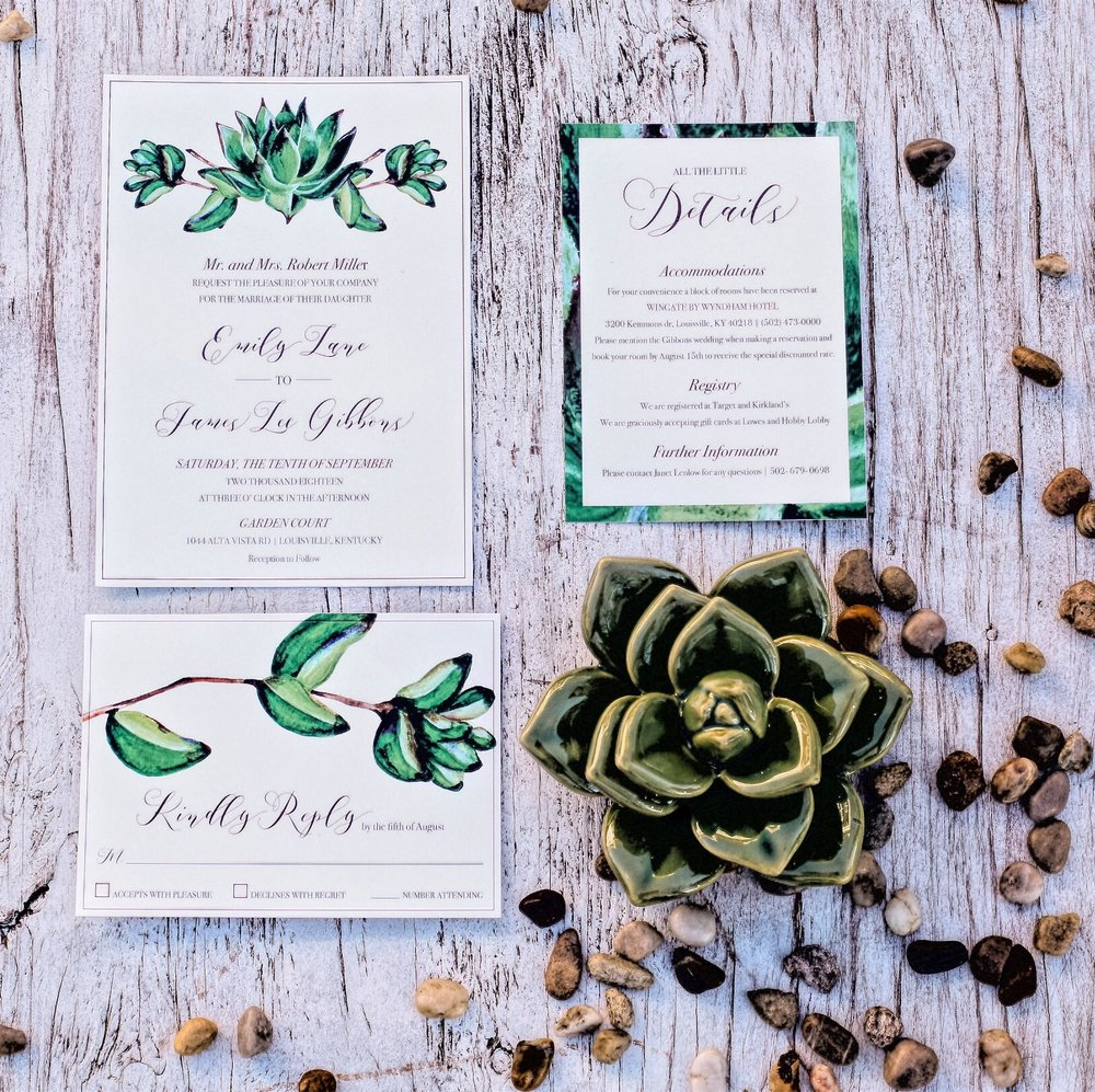 PIPER - Go bold with a lush green! This Suite has a clean, organic look;perfect for all you plant lovers!