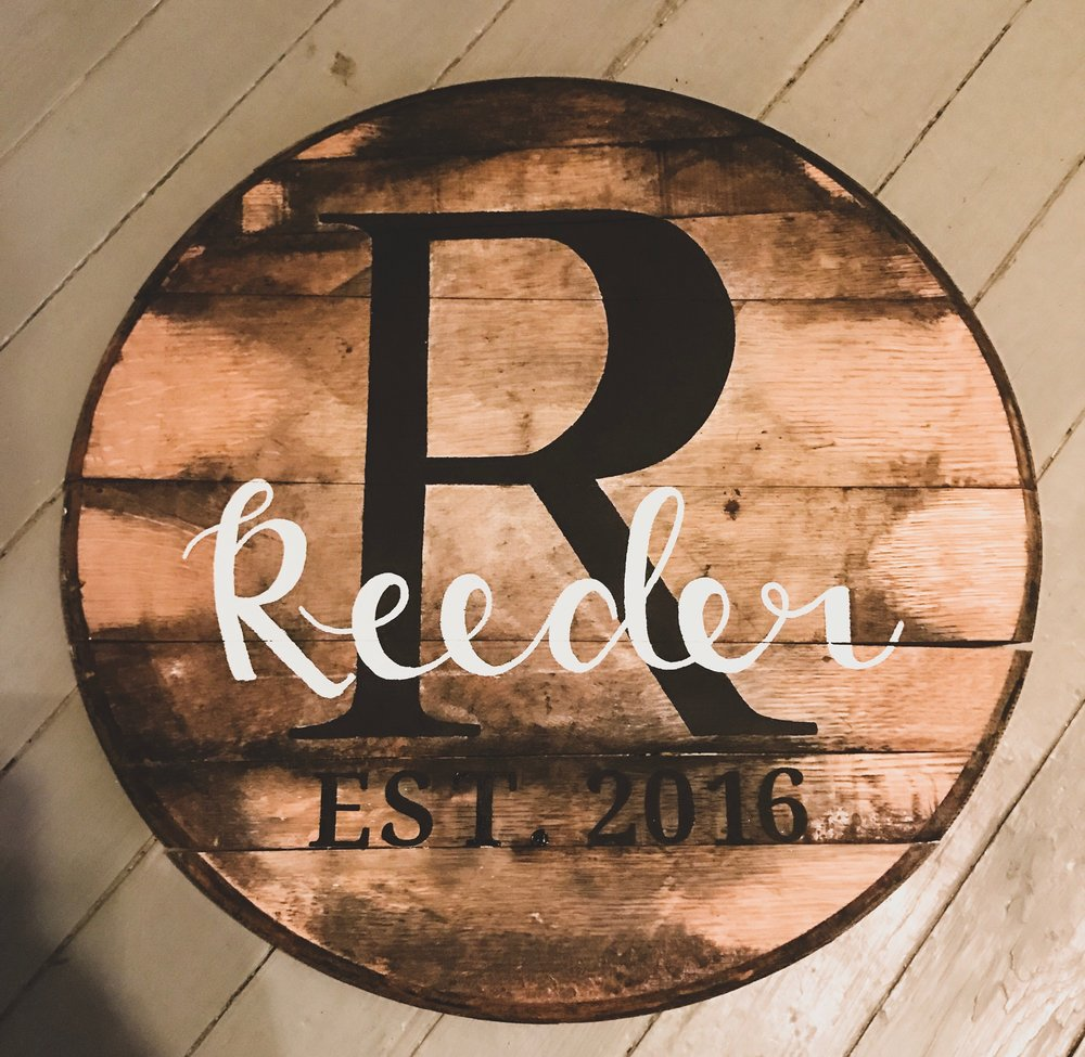 Custom painted barrel head - This sign includes the last name initial, last name, est. date,and can also include two names. If you have another design in mind feel free to contact me!Locals in Louisville, KY : Use coupon code LOCAL502 to get a reduced price. This is only if you can meet me to pick up your order. This will take off the shipping.