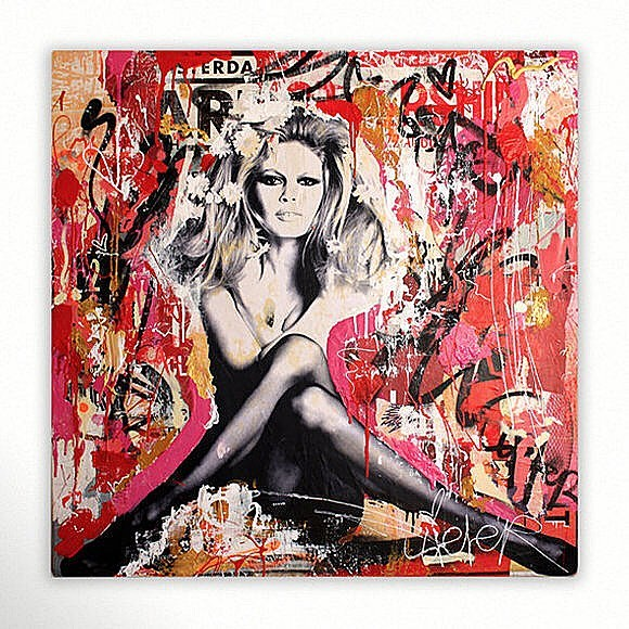 Brigitte Bardot Body: A pop art collection created from torn city posters by Michiel Folkers • To find out more information on this piece: DM or 📥codyfranklin@robertkiddgallery.com