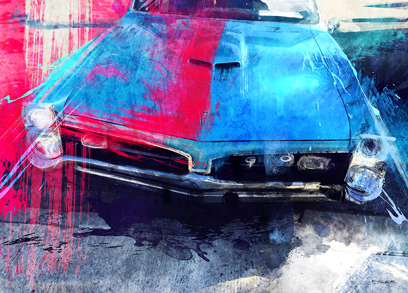 GTO Muscle: Pontiac GTO (11 x 14)