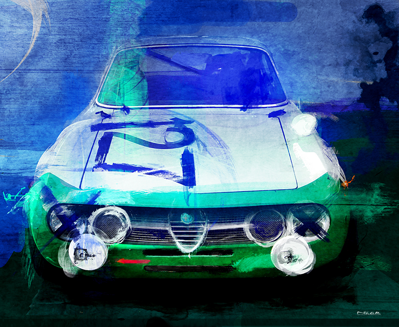 Italian Bella: 1974 Alfa Romero GTV (11 x 14)