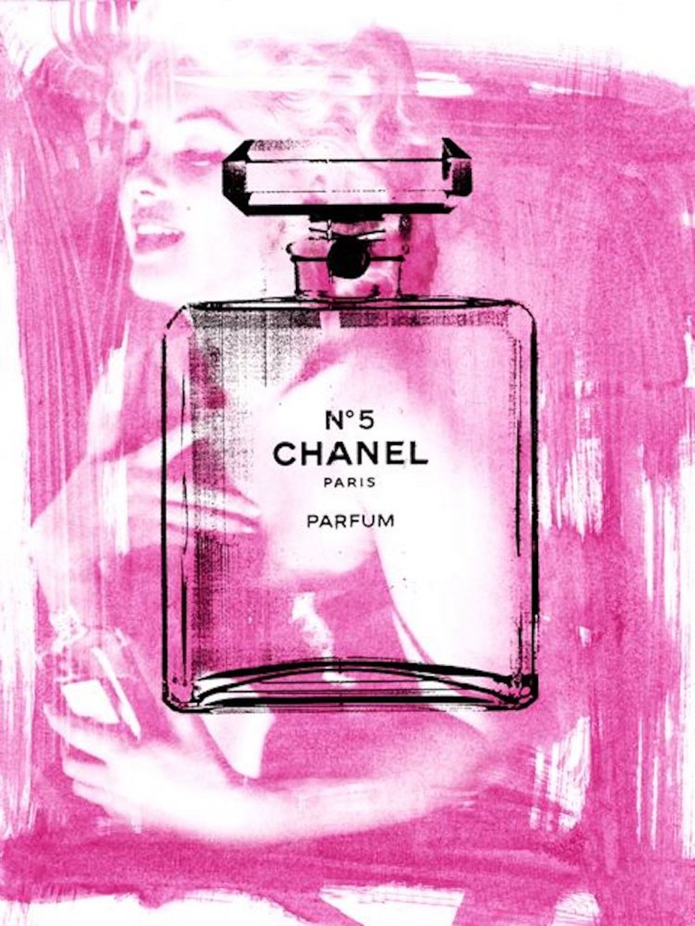 Chanel No. 5 Pink (40 x 30)