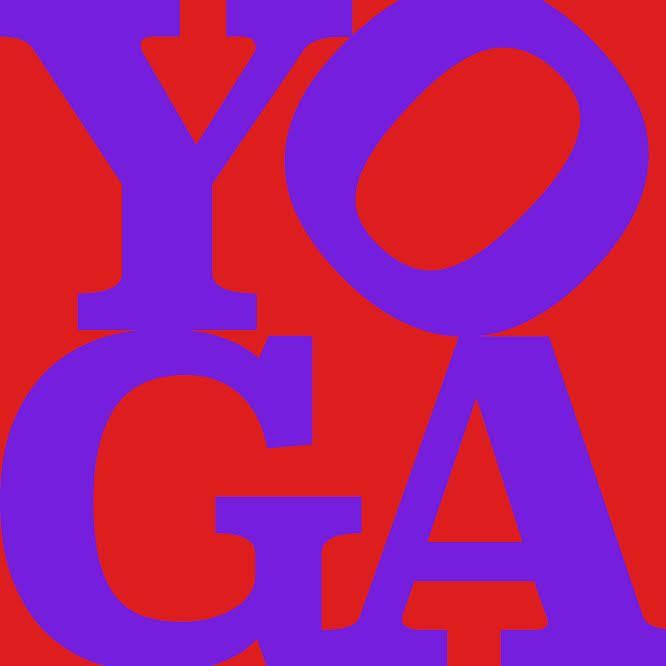 YOGA: Purple (38 x 38)