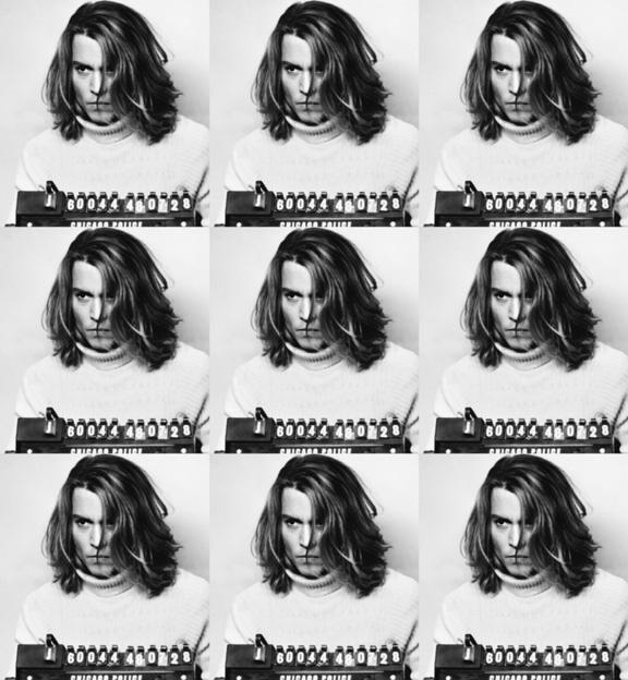 Johnny Depp Mugshot (39 x 36)