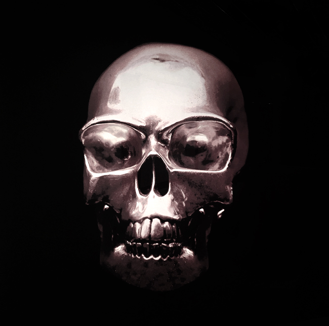 Silver Skull (20 x 20)