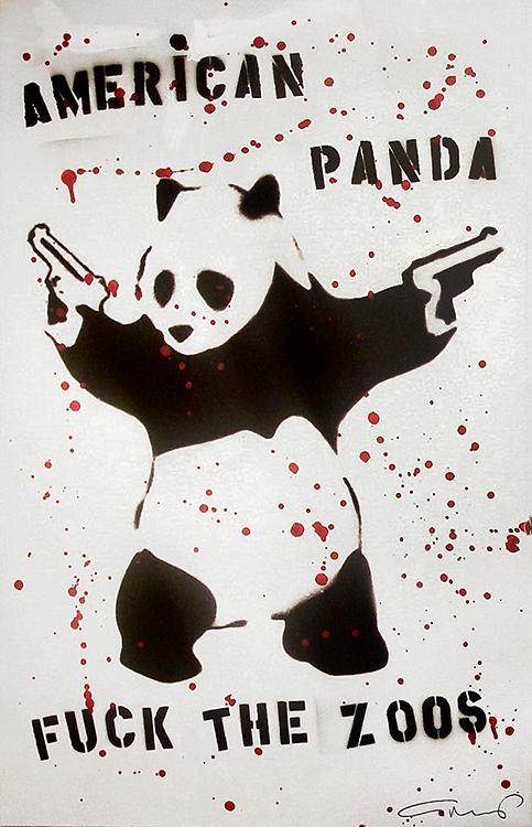 American Panda (39 1/2 x 26)