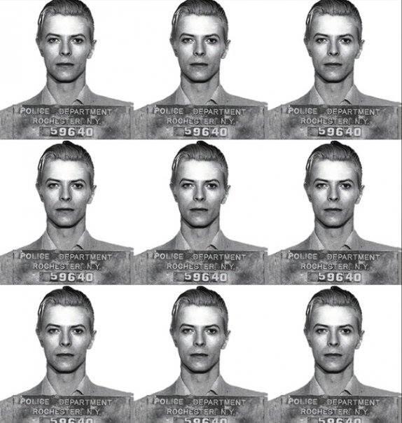 David Bowie Mugshot (39 x 36)
