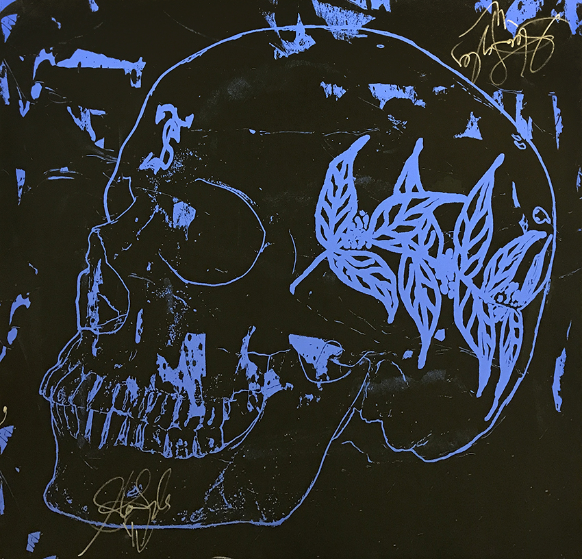 Blue Skull (37 1/2 x 39)