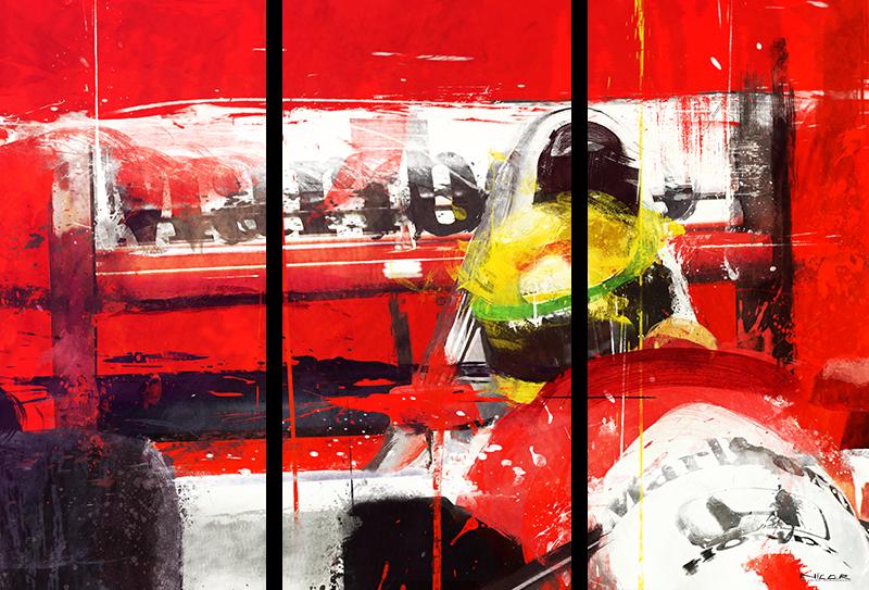 McLaren Honda + Ayrton Senna (40 x 69)