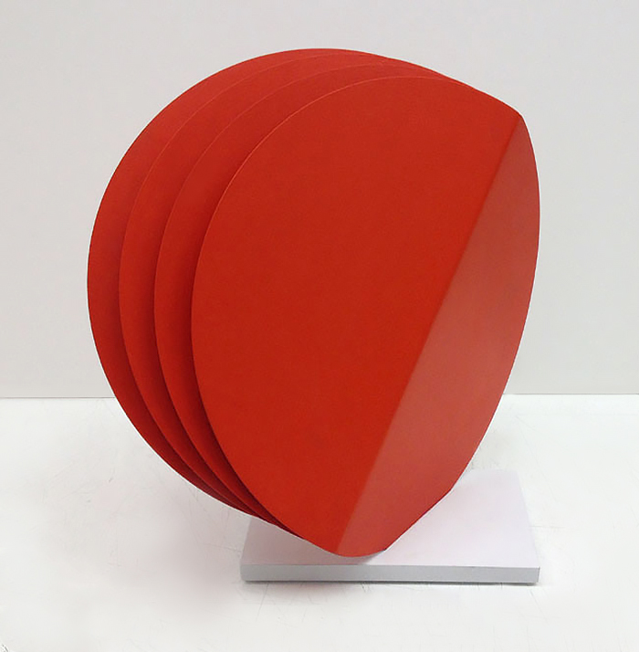 Four Round Red Shapes (12 x 12)