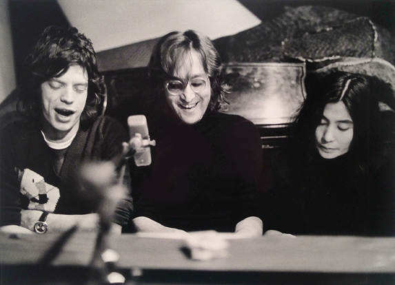 Bob Gruen  Mick, John, Yoko NYC 1974  Silver gelatin limited edition photographic print on paper  Email us for all inquiries: gerard@robertkiddgallery.com