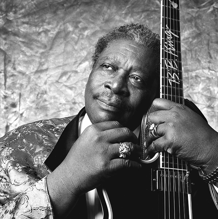 BB King in Cleveland (20 X 24)  Silver gelatin limited edition photographic print on paper  31 1/4 x 31 1/4 (framed)  Email us for all inquiries: gerard@robertkiddgallery.com