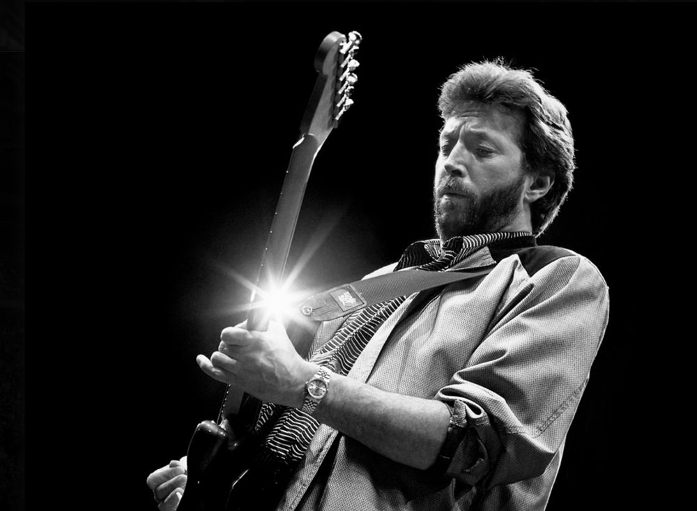 Eric Clapton Early 80'S  Silver gelatin limited edition photographic print on paper  Email us for all inquiries: gerard@robertkiddgallery.com