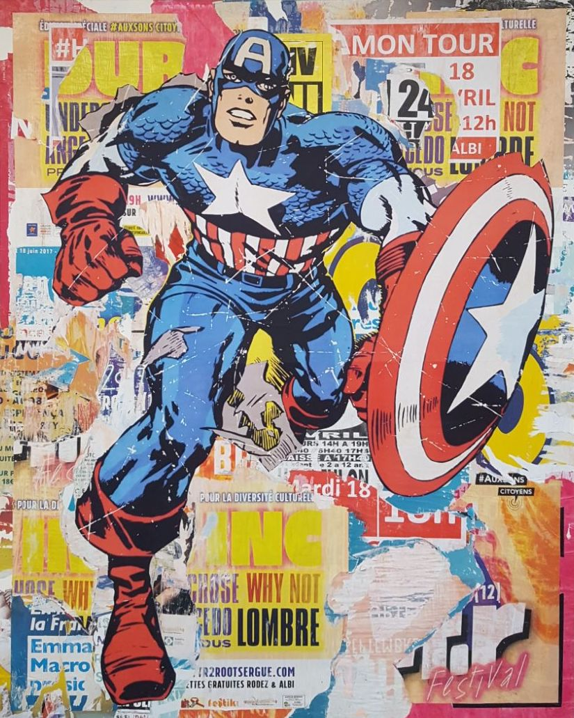 Captain America (59 x 47)