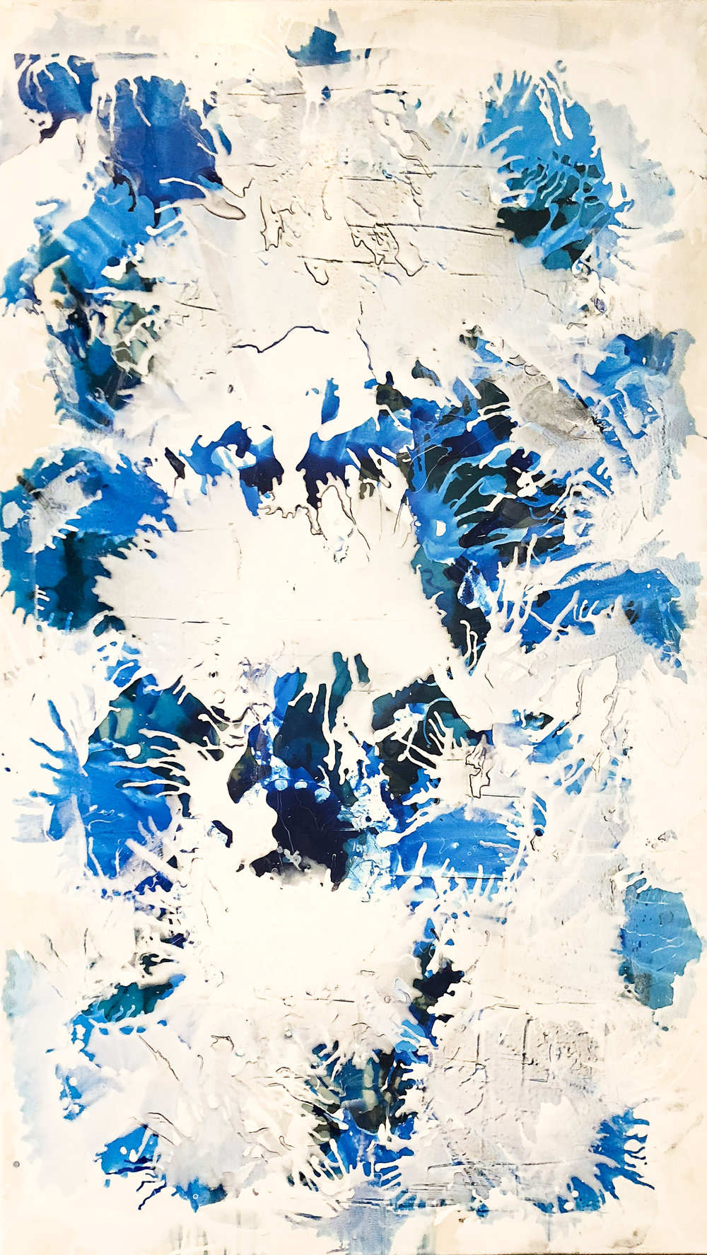 Electric Blue I (60 1/2 x 36)