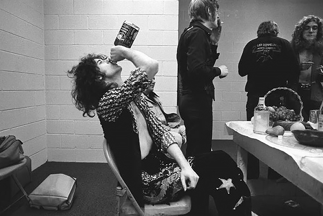 Neal Preston  Jimmy Page & Jack Daniels 1975 (24 X 20)  Silver gelatin limited edition photographic print on paper  24 1/2 x 29 3/4 (framed)  Email us for all inquiries: