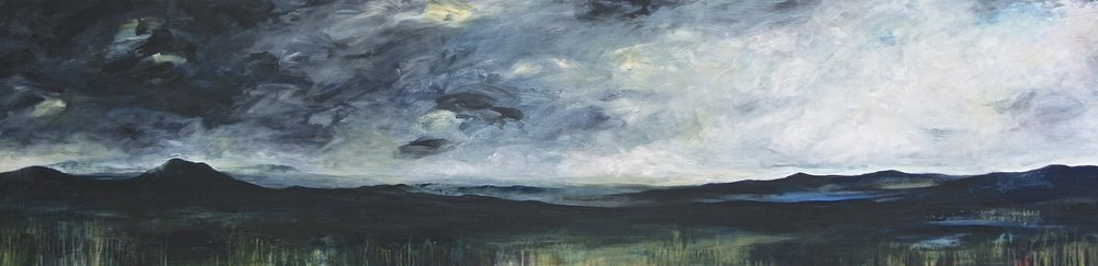 LANDSCAPE III (24 X 96)  Mixed media on canvas  Email us for all inquiries: gerard@robertkiddgallery.com