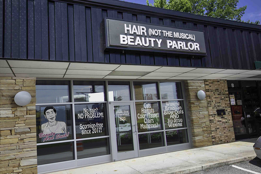 A mockup of a beauty salon no bank in their right mind would give me a loan for.
