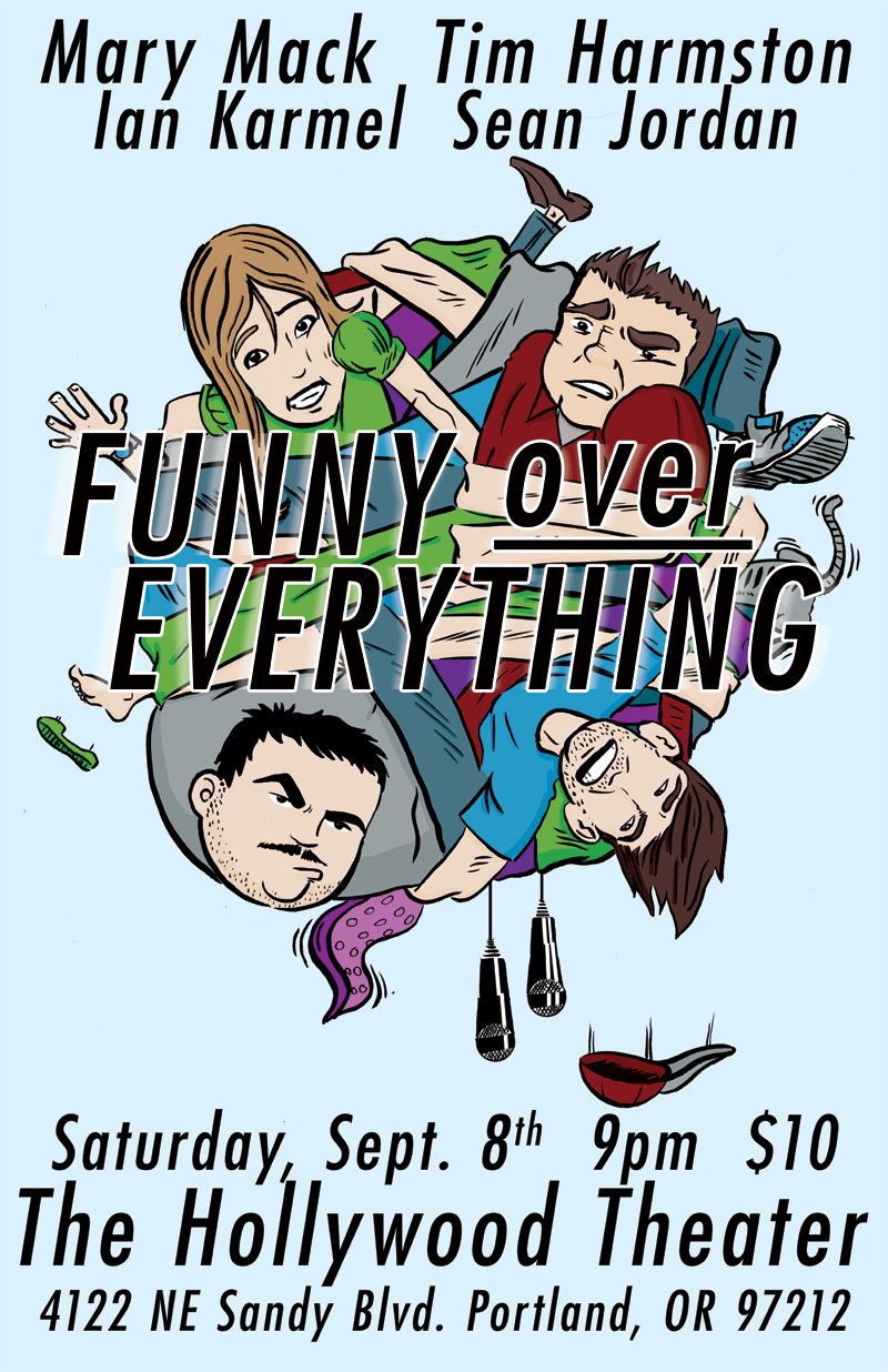 An old poster for a comedy show from way back in 2012. I'm only including it 'cause I think I really nailed the faces.
